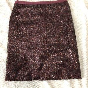 J Crew sequenced pencil skirt